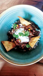 Chilli con carne menu